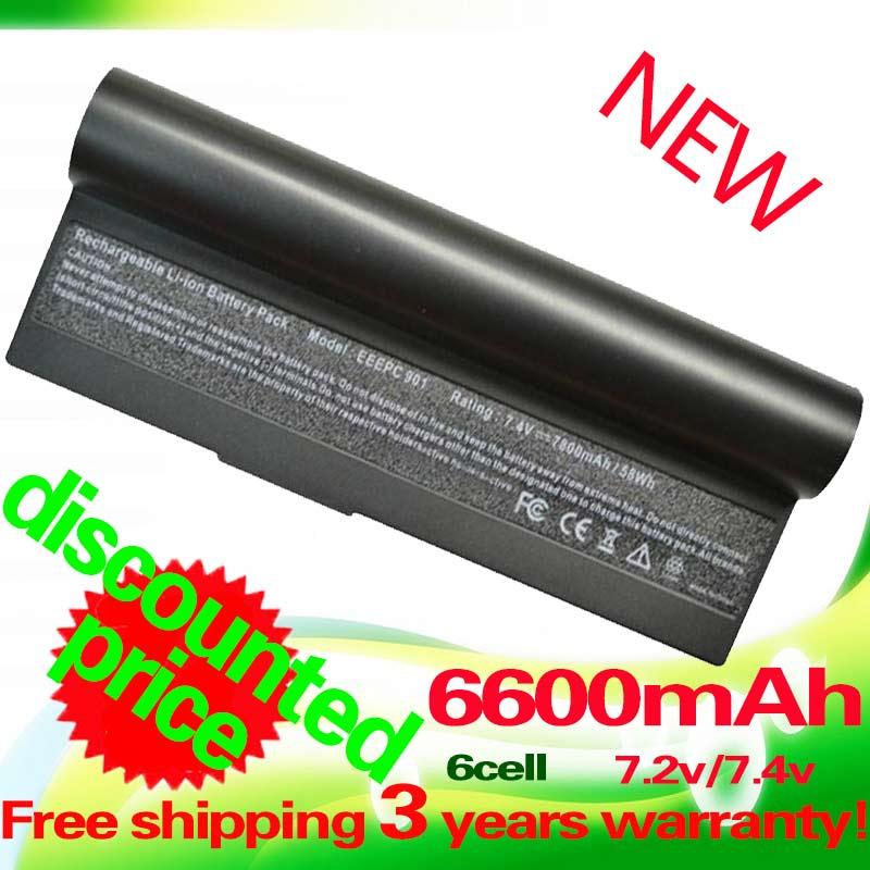 6600mAh black Laptop Battery for ASUS Eee PC 1000 1000H 1000HA 1000HD 1000HE 1000HG 901 904HD AL23-901 AL24-1000 AP23-901(China (Mainland))