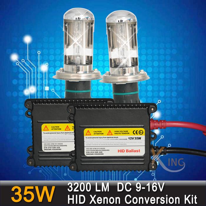 Free Shipping 35W H4 Xenon Bulb Lamp Car Light HID Conversion Headlight Kit Bixenon Hi/Lo 3000k 4300k 5000K 6000k 8000k 12000k(China (Mainland))