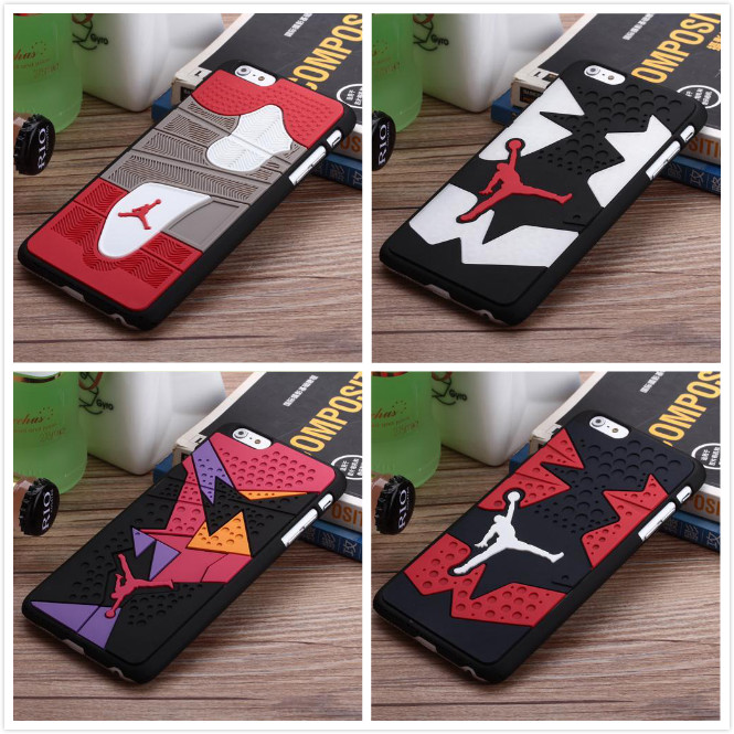 Hot Jordan sneakers 4 6 7 Sole PVC Rubber Cell Phone Case For Apple iPhone 5 5s 6 s plus 6plus men's sport basketball Case Cover(China (Mainland))