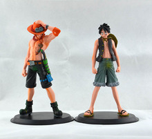 2pcs/set One Piece Luffy VS Ace Japanese Anime Cartoon 2 Years Later PVC Action Figure Toys Dolls15CM Free Shipping A16
