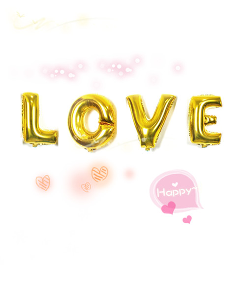 New 40'' Gold Letters Foil Balloons '' LOVE '' Wedding Party Room Decor Rated on 2 customer reviews for your wife/husband(China (Mainland))