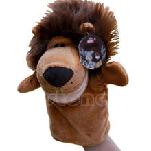 Child Kids Cute Plush Velour Animals Hand Puppets Chic Designs Learning Aid Toys Dolls(China)
