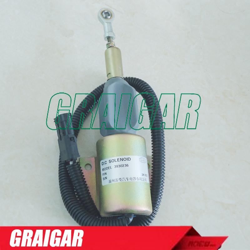 24V Fuel Stop 3930236 Shut Off Shutdown Solenoid SA-4348-24 <br><br>Aliexpress