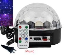 Бесплатная доставка 30 Вт RGB из светодиодов мини-музыкальный кристалл магический шар освещение сцены для диско / ну вечеринку / ночной клуб / KTV с дистанционным