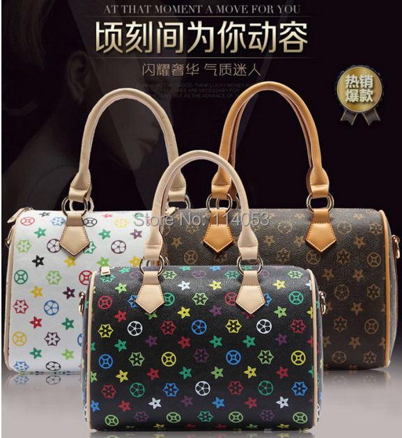 Women 2015 Europe and America Style shoulder handbags Messenger Bag Retro & Fashion Serues Hobos Bag PVC Colorful/Jane 89(China (Mainland))