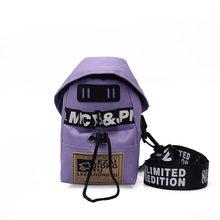 Moda Venda Quente Do Esporte No Peito Pequeno Saco de Lona Mulheres Carta Ombro Mensageiro Crossbody Bag Estudantes Telefone Mini Saco de Nylon Homens(China)