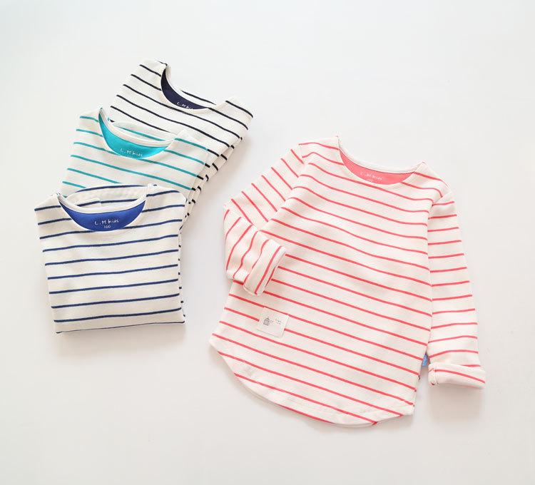 Spring new kids children stripe T-shirt girl child<br><br>Aliexpress