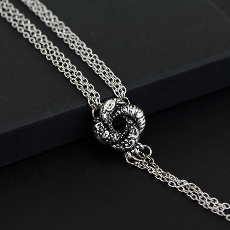 New design Bond Girl Jewelry Algerian Love Knot Necklace silver chain cheap necklace for woman(China (Mainland))