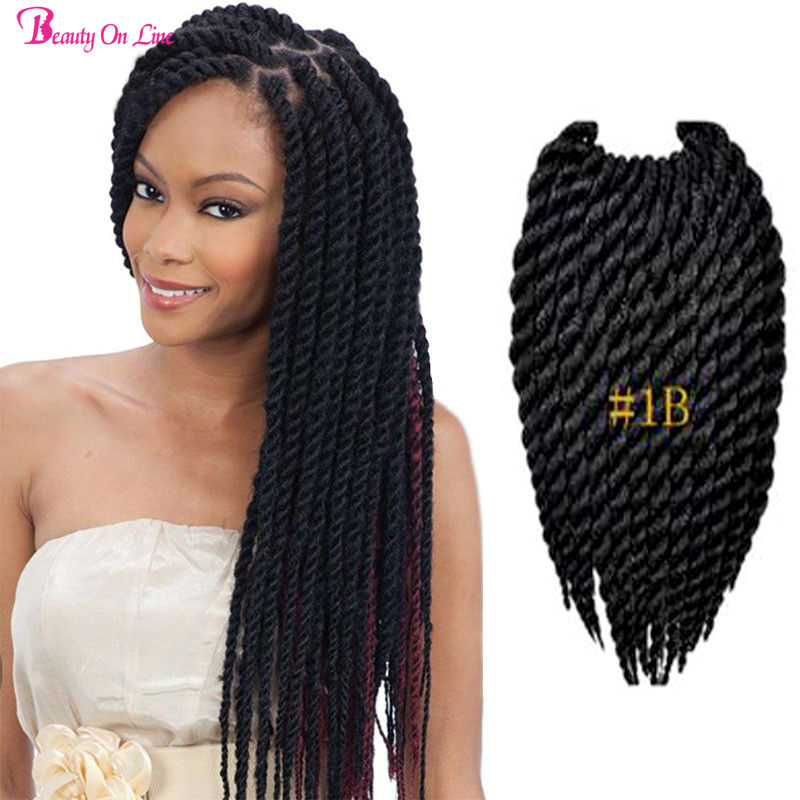 Crochet Braids Ombre Hair : Mambo Twist Crochet Braid Hair Ombre Kanekalon Crochet Braiding Hair ...