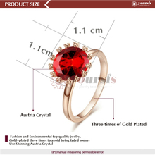 Simulation Of Ruby Diamond Rings 18K White Gold Plated Toe Ring Drop Shipping R1284R2