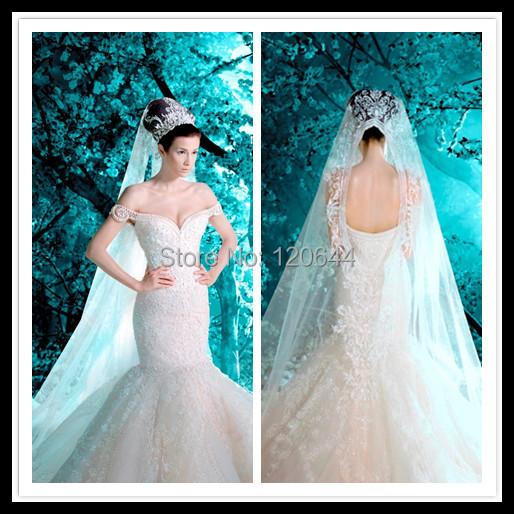 Crystal Mermaid Wedding Dress Sweetheart Shoulder Beaded Luxury Long Bridal Gowns - SuZhou Kamaliya Love Store store