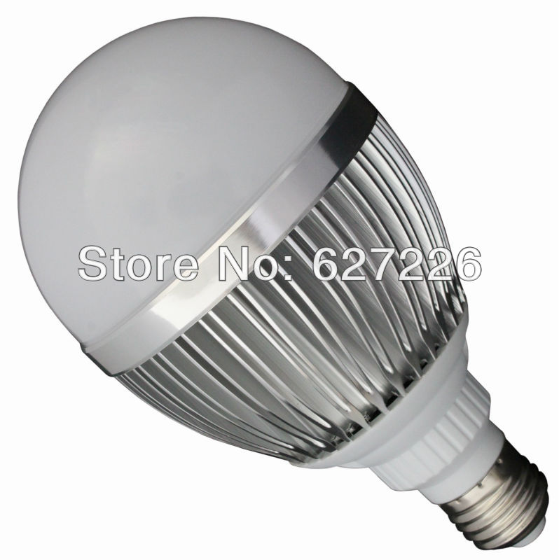 Lowest Price Wholesale 12*1W Dimmable White plastic lampshade LED Bubble Ball Bulb, Lifespan 35000H Warranty 3 Years(China (Mainland))