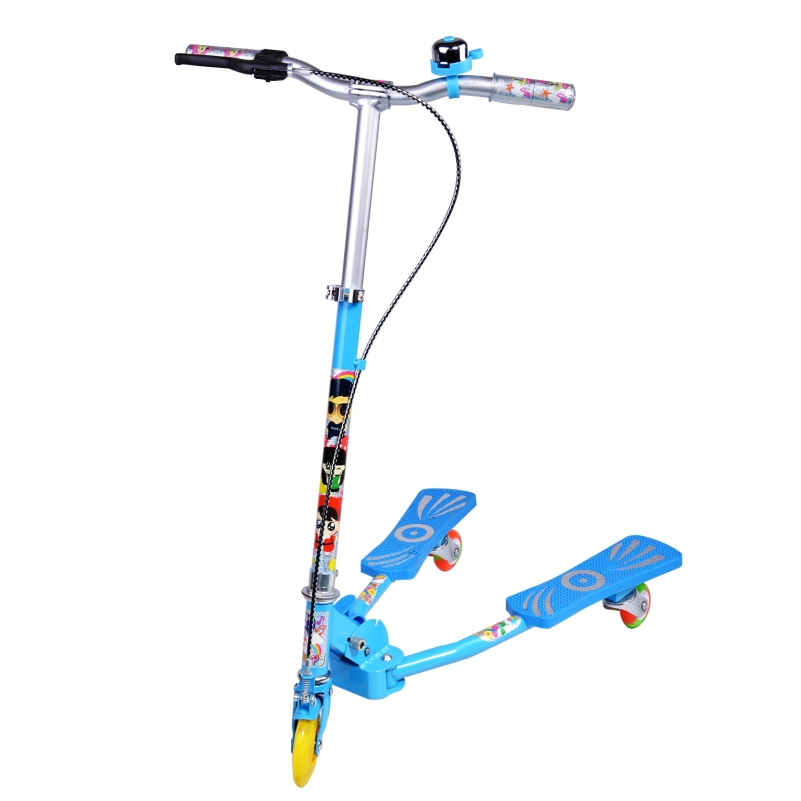 Aluminum alloy flash wheel child frog-style scooter kid folding tricycle triciclos pedal bike girl boy trochlear car(China (Mainland))
