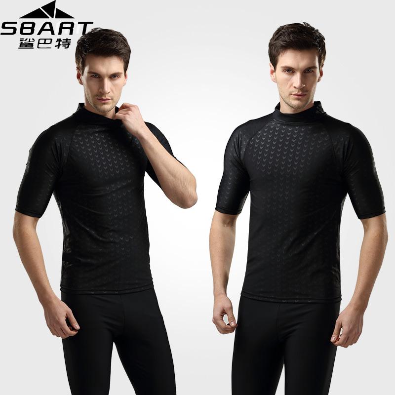 SBART Rashguard Men Top 2015 Short Sleeve Mens Rash Guard Shirts Tops Lycra Surfing Plus Size Swim Shirt UV Hot Sale H703(China (Mainland))