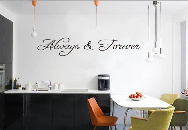 Стикер стены всегда навсегда-бесплатная любящий дом декор творческий цитата на стены 8071 декоративные adesivo де parede съемный стикер