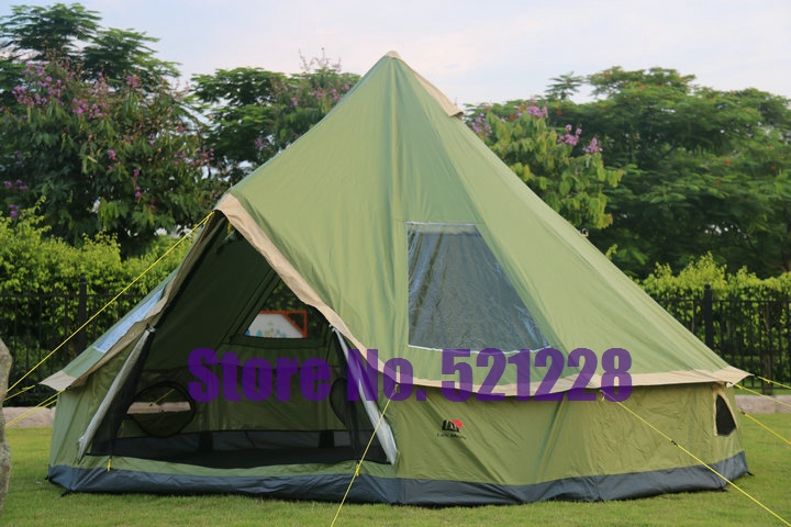 On sale 5-8 person Mongolia yurt family travel hiking anti mosquito sun shelter awning canopy beach fishing outdoor camping tent(China (Mainland))