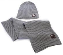 HOT Hat European and American Fashion Brand Scarf&hat Unisex Women Men Cashmere Scarf Hat Cap Free Shipping (China (Mainland))