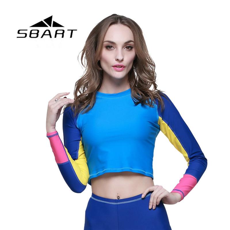 Sbart 2015 New Sexy Short Paragraph Women Wetsuit Top Long Sleeve Swimwear Spearfishing Equipment Scuba Diving Suits Hot Sale(China (Mainland))