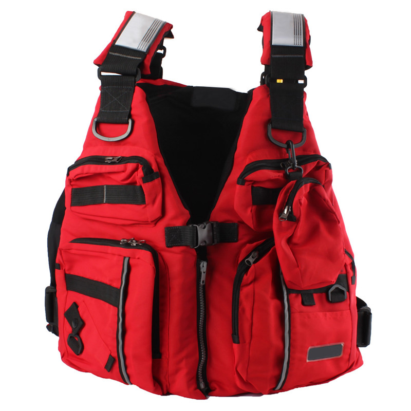 Detachable Adult Life Jacket Vest Aid Sailing Surfing Fishing Kayak Boating Outdoor Sports With ManyPockets(China (Mainland))