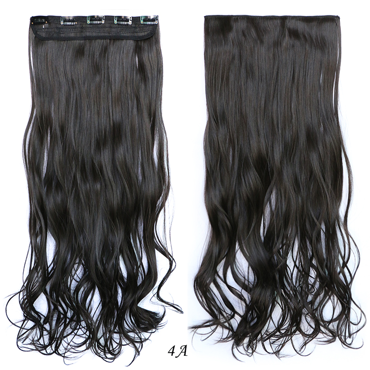 24inch/60cm 120g 5clips Long Curly Big Wavy Hair Extension Synthetic Heat Resistant Clip-in Hairpieces Ladies Beauty Remy Hair<br><br>Aliexpress