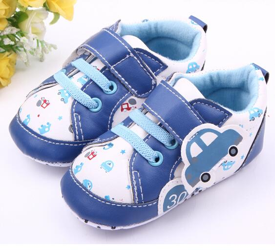0-1 years old baby shoes girls boys shoes cute cartoon car baby girl shoes toddler comfort pu leather baby boy shoes infant(China (Mainland))