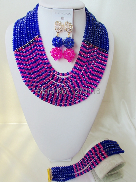 2014 Rushed  Classic Women Crystal Jewelry Sets New Arrived Nigeria Jewelry Set Necklace Africa Beads Set  AAA711<br><br>Aliexpress