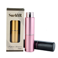SurbYR 15ML Mini Portable Aluminum Telescop Refillable Perfume Bottle With Atomizer Empty Parfum Case With Gift