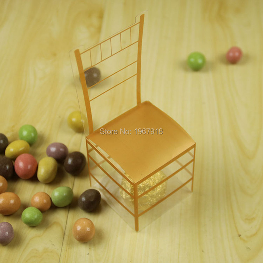 50pcs/lot PVC Golden Chair Candy Box European Style Royal Chair Wedding Candy Box Wedding Favor Candy Box Plastic Gift Boxes(China (Mainland))