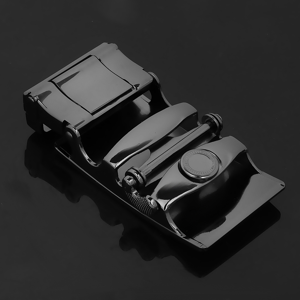 Business Men Fashion Automatic Ratchet Belt Buckle High Quality  Alloy Black For 1.38-1.54 Inch Width Belt Leather Belt