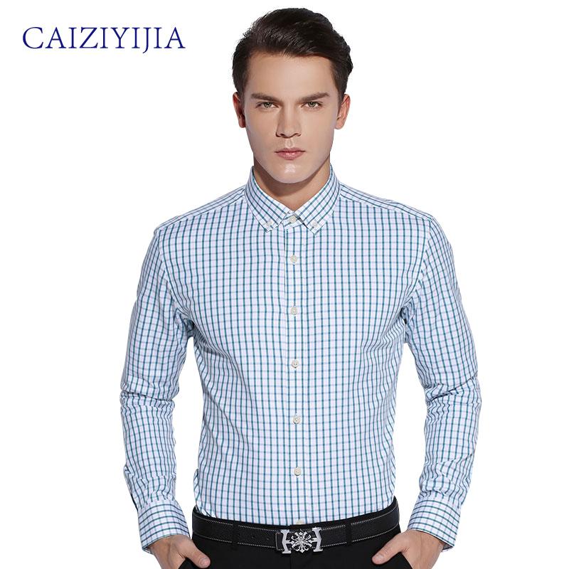 Buy caiziyijia 2016 fashion mens slim fit for Men oxford slim fit long sleeve shirt
