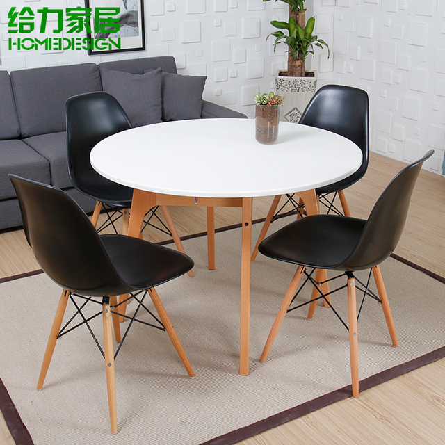 Table ronde sous table restaurant rapide blanc mode - Table ronde en bois ikea ...