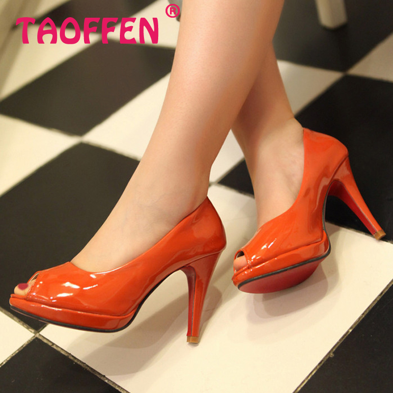 Free shipping 2013 news high heel peep toe shoes women dress  footwear  patent leather  sexy pumps P3141 hot sale size 31-43<br><br>Aliexpress
