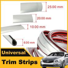 Universal Door Moulding Trim Strip Edge Guard Automotive Chrome Sticker Car Styling Decoration 6MM 10MM 20MM 25MM(China (Mainland))