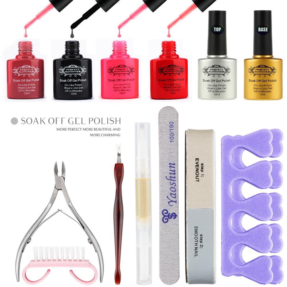 low quantity high quality Candy color uv gel nail polish , professional uv gel nails kits, free send a set nail tool(China (Mainland))