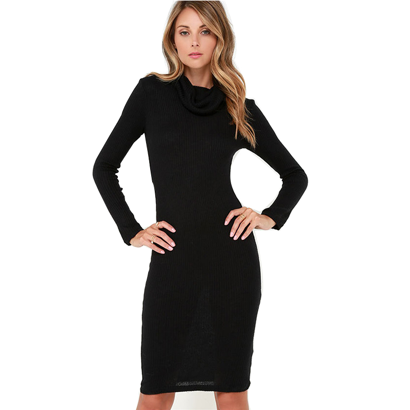 Pictures Of Black Dress With Sleeves Knee Length Kidskunstfo
