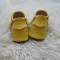 Yellow leatherette Leather Toddler shoes Toddler First Walker