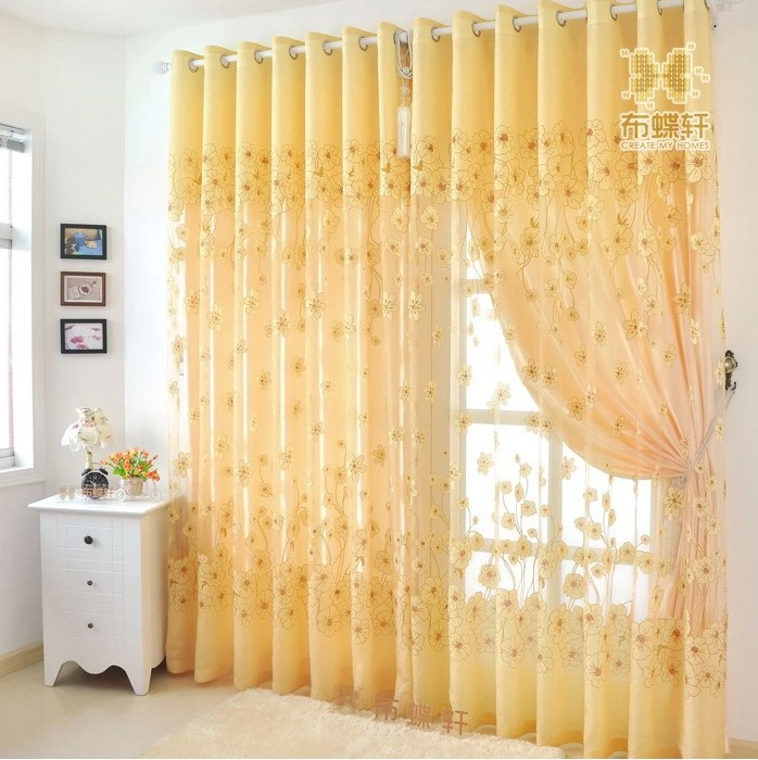 Buy luxury ready made curtains and tulle for Hotel drapes for sale
