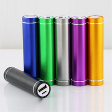 Original 2600MA Mobile phone accessory metal cylindrical power bank for Samsung Apple Xiaomi Universal mobile power