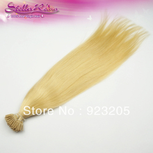 New Fashion 100g Pre-Bonded I Tip Hair Extension Color #22 Blonde 100% Human Remy Hair Via The Fastest DHL Free Shipping(China (Mainland))
