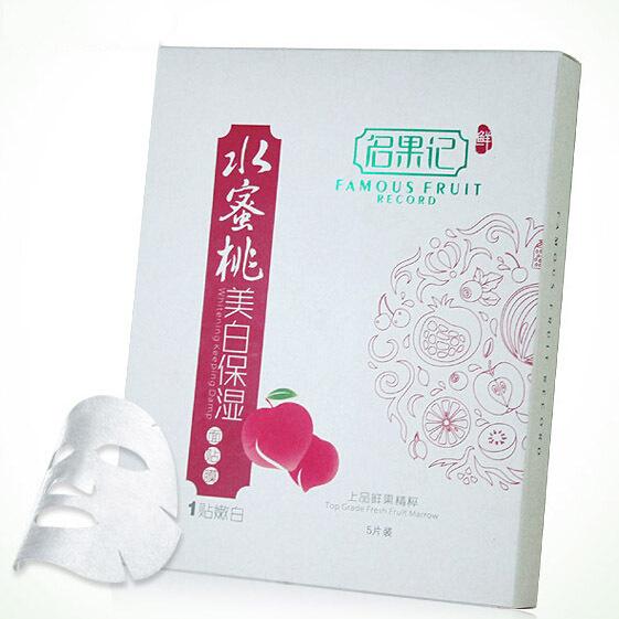 Juicy peach face mask nourishing fruit hydrating face care facial Whitening mask softening spa ice mask collagen mascara facial(China (Mainland))