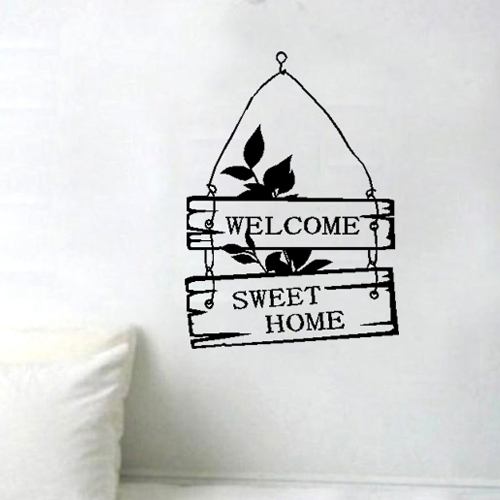 Free shipping welcome sweet home sign bedroom living room for Deco home sweet home