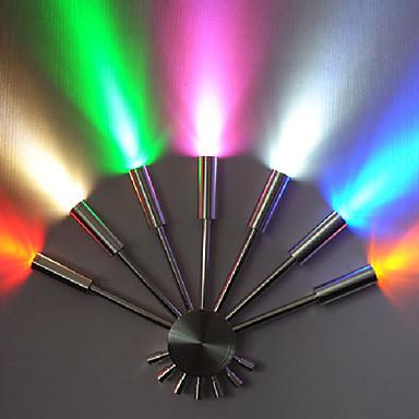 Фотография 7W,AC,Fan-shaped,multicolour led Wall Lamp Light,Seven Lights, Warm White Aluminium Acrylic,Bulb Included