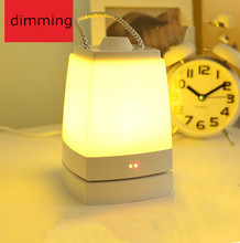 Nightlight Promise saving charging pat multifunction portable lamp dimmer creative energy saving lamps led lamps feeding(China (Mainland))