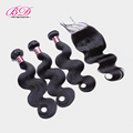 8A Brazilian Virgin Hair with Closure Body Wave Human Hair With Closure 4 4 Lace Closure
