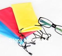B Factory Price Wholesale Water-Proof Multi Purpose Microfiber Sunglasses Bag Eyewear Pouch With Drawstring 20Pcs/lot 10Colors(China (Mainland))