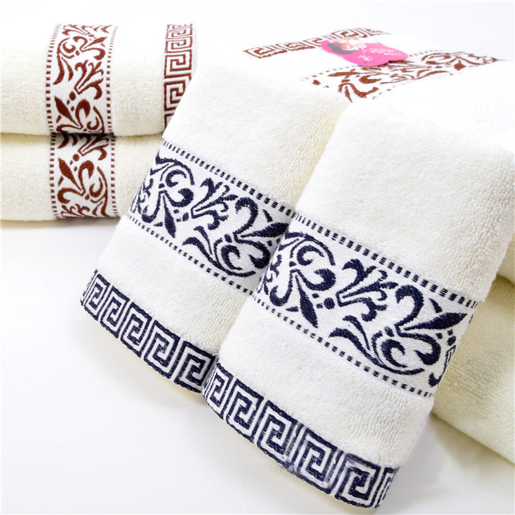 100% Cotton Home Hand Towel Set of 4 for Adults,Printed Face Gift Terry Towel Bath 34x76cm,Shower Washcloth,Toallas,Strandlaken(China (Mainland))