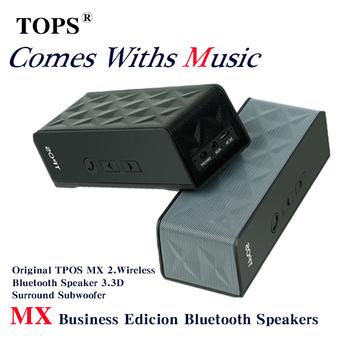 Оригинальный TPOS MX беспроводная связь Bluetooth спикер мини HIFI портативный 3D объемного сабвуфер FM радио усилитель USb стерео звук микрофона