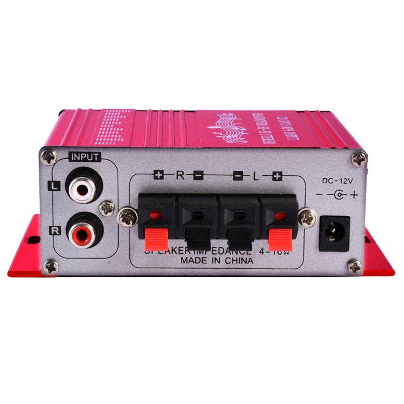 Red Hifi Mini Digital amplificador Motorcycle Auto Car Stereo Power Amplifier Sound Mode Audio Support DVD MP3 for Home(China (Mainland))