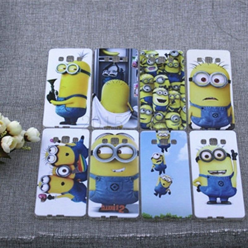New 2015 Fashion Soft TPU Cell Phone Cover Case For Samsung Galaxy A5 A500 A500F minion case(China (Mainland))