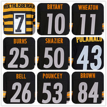 MENS #7 Ben Roethlisberger#10 Martavis Bryant#11 Markus Wheaton#25 Artie Burns#26 Le'Veon Bell#43 TROY POLAMALU# Jerseys(China (Mainland))